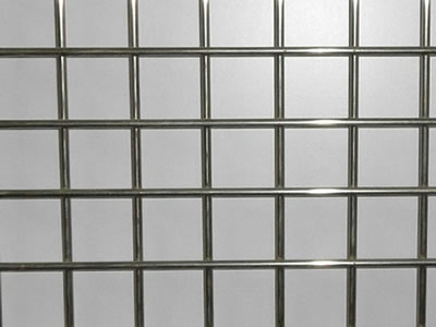 A piece of stainless steel welded wire mesh with smooth surface shown in the picture.